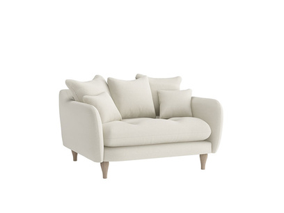 Oat Brushed Cotton Skinny Minny Loveseat