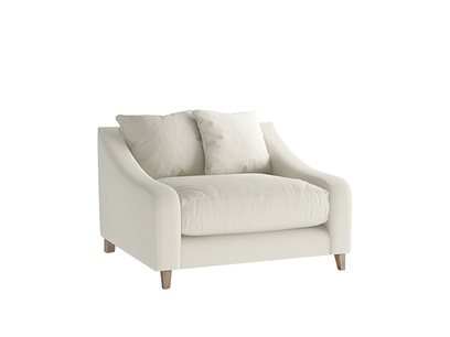 Oat Brushed Cotton Oscar Loveseat