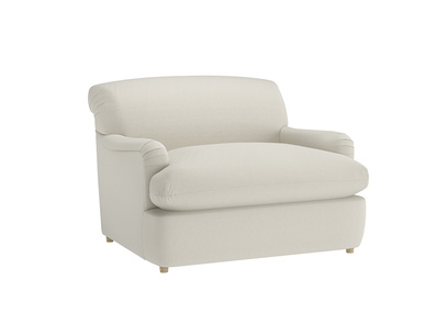 Oat Brushed Cotton Pudding love seat