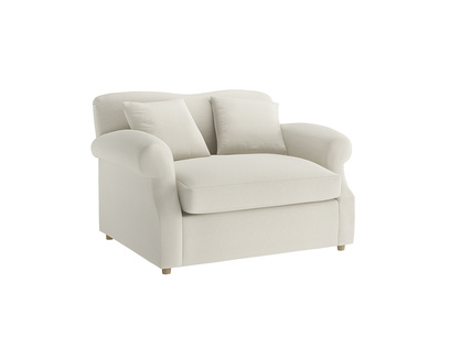 Oat Brushed Cotton Crumpet Loveseat Sofabed
