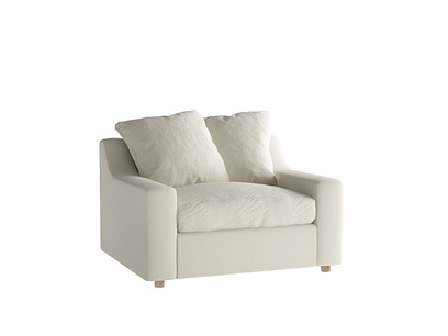 Oat Brushed Cotton Cloud Loveseat