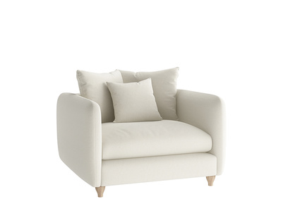 Oat Brushed Cotton Podge Loveseat