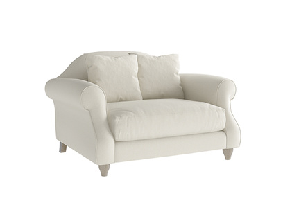 Oat Brushed Cotton Sloucher Loveseat