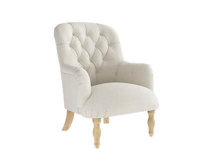 Oat Brushed Cotton Flump Chair