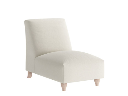 Oat Brushed Cotton Souffle SI Seater No Arm
