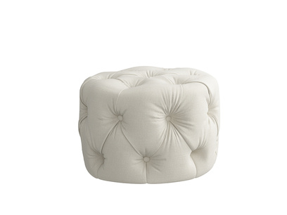 Oat Brushed Cotton Gumdrop footstool