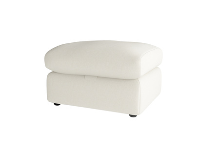 Oat Brushed Cotton Chatnap Footstool