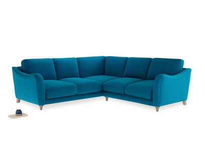 Even Sided Bumpster Corner Sofa in Bermuda Brushed Cotton