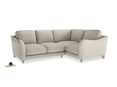Large Right Hand Bumpster Corner Sofa in Thatch house fabric