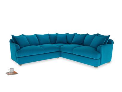 Even Sided Smooch Corner Sofa in Bermuda Brushed Cotton