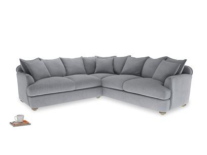 Even Sided Smooch Corner Sofa in Dove grey wool