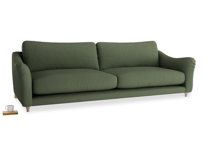 Extra large Bumpster Sofa in Forest Green Clever Linen