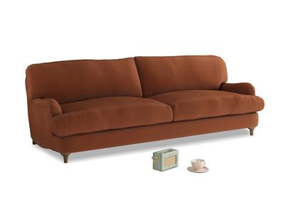 Large Jonesy Sofa in Praline Plush Velvet