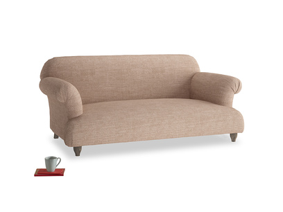 Medium Soufflé Sofa in Old Plaster Clever Laundered Linen