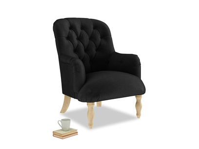 Flump Armchair in Blackboard Vintage Velvet