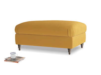 Rectangle Flatster Footstool in Burnished Yellow Clever Velvet