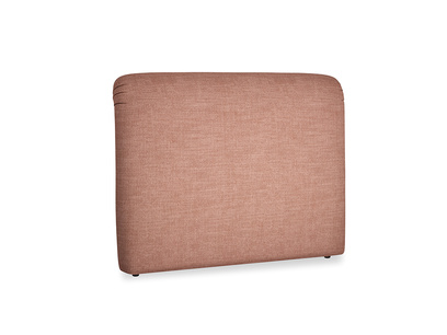 Kingsize Cookie Headboard in Dried Rose Clever Laundered Linen