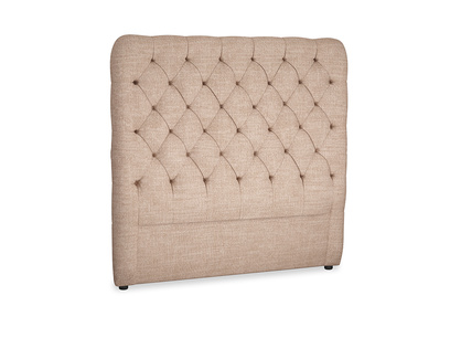 Double Tall Billow Headboard in Old Plaster Clever Laundered Linen