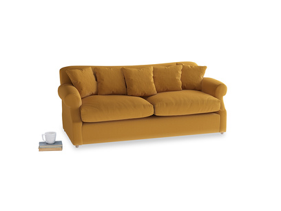 Large Crumpet Sofa Bed in Burnished Yellow Clever Velvet
