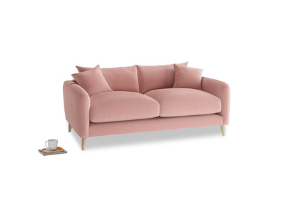 Small Squishmeister Sofa in Vintage Pink Clever Velvet