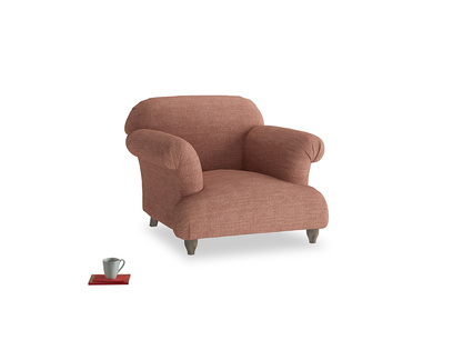 Soufflé Armchair in Dried Rose Clever Laundered Linen