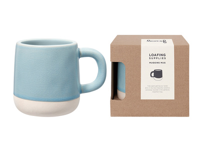 Muggins coffee mug in Baker's Blue