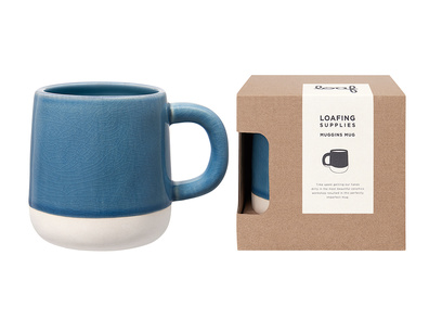 Muggins coffee Mug in Blue Apron