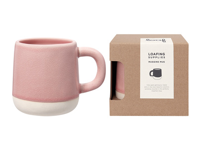 Muggins Mug in Rhubarb Fool Pink