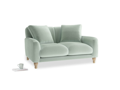 Small Bear Hug Sofa in Mint clever velvet