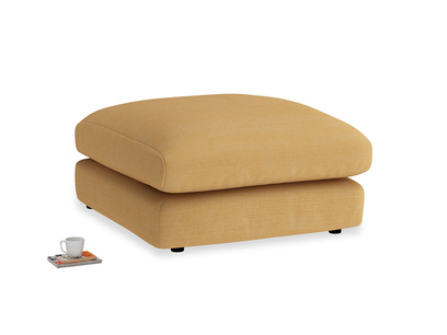 Wodge Footstool in Honeycomb Clever Softie