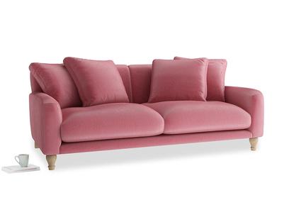 Large Bear Hug Sofa in Blushed pink vintage velvet