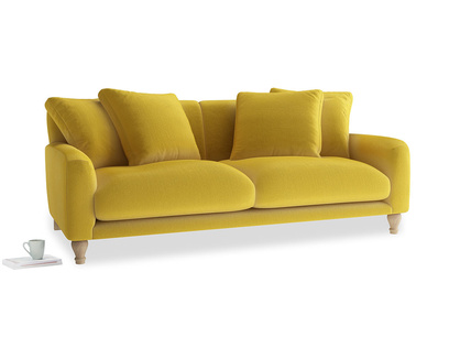 Large Bear Hug Sofa in Bumblebee clever velvet