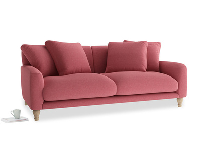 Large Bear Hug Sofa in Raspberry brushed cotton