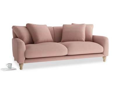 Large Bear Hug Sofa in Tuscan Pink Clever Softie