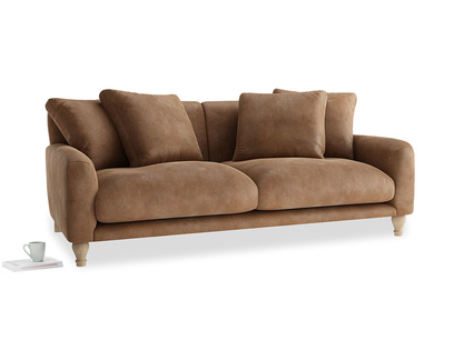 Large Bear Hug Sofa in Walnut beaten leather