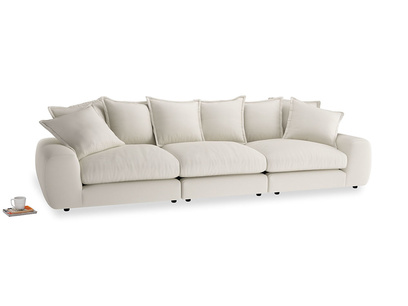 Large Wodge Modular Sofa in Chalky White Clever Softie