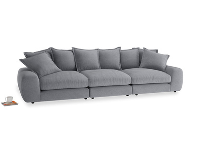 Large Wodge Modular Sofa in Dove grey wool