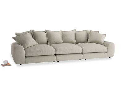 Large Wodge Modular Sofa in Thatch house fabric