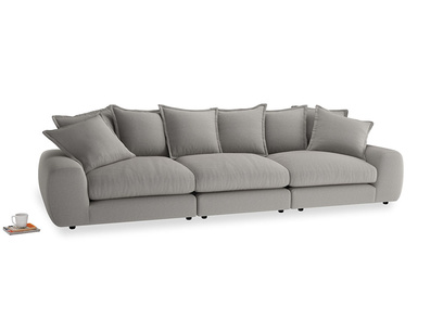 Large Wodge Modular Sofa in Wolf brushed cotton