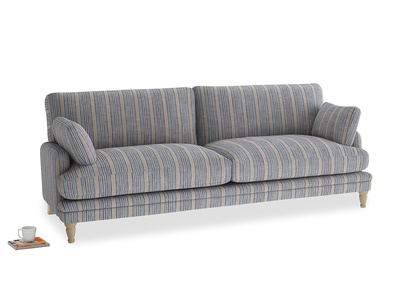 Large Squisharoo Sofa in Brittany Blue french stripe