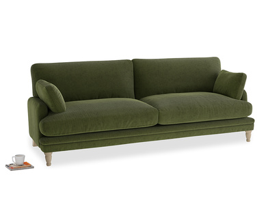 Large Squisharoo Sofa in Leafy Green Clever Cord