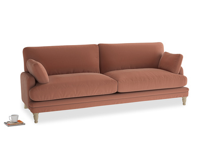 Large Squisharoo Sofa in Pinky Peanut Plush Velvet