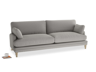 Large Squisharoo Sofa in Wolf brushed cotton