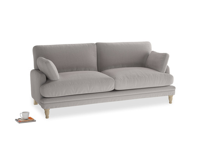Medium Squisharoo Sofa in Mouse grey Clever Deep Velvet
