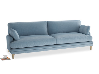 Extra large Squisharoo Sofa in Chalky blue vintage velvet