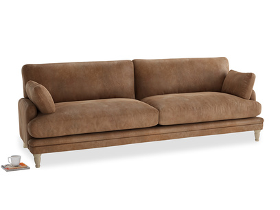 Extra large Squisharoo Sofa in Walnut beaten leather