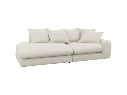 Oat Brushed Cotton Wodge LA RH Longue Chaise