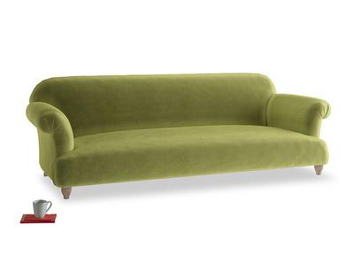 Extra large Soufflé Sofa in Light Olive Plush Velvet