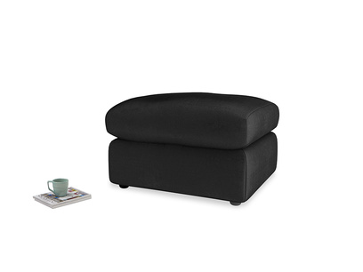 Chatnap Storage Footstool in Blackboard Vintage Velvet