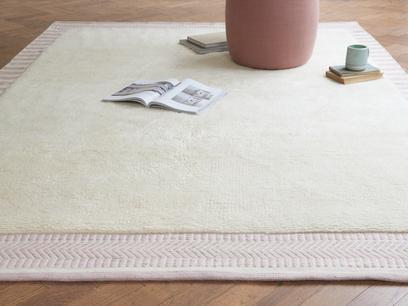 Loom handmade woven rug in Dusty Pink